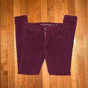 American Eagle velvet pants size 2, burgundy